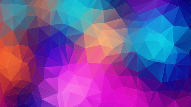 branding colours, showing complimenting colours and how they fit together in triangles.